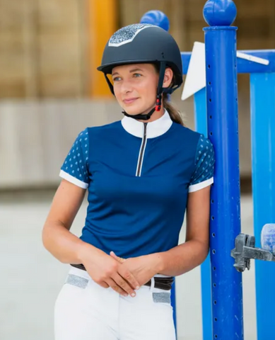 Horze Paige Short Sleeve Show Shirt - Equestrian Fashion Outfitters
