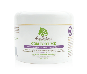 The ecolicious all natural product for grooming horses. Comfort me.