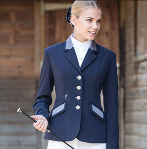 Equetech show jacket for all stylish equestrians. Contrast colours on this horseback riding competition jacket.