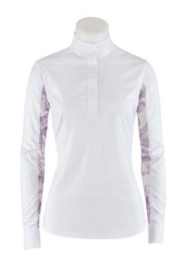 The Lauren show shirt offers an exciting twist to the traditional show shirt. This show shirt is for the stylish horseback riders.