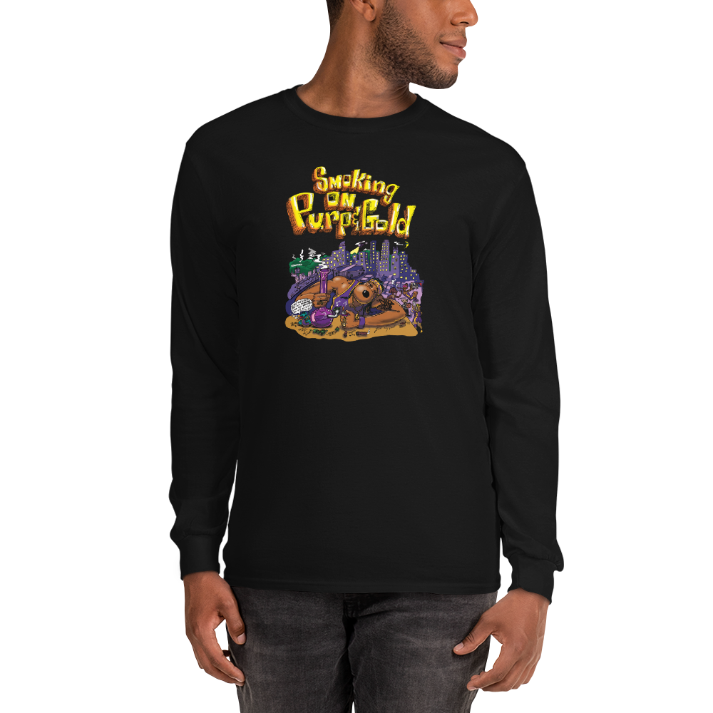 PURP & GOLD LONG-SLEEVE TEE
