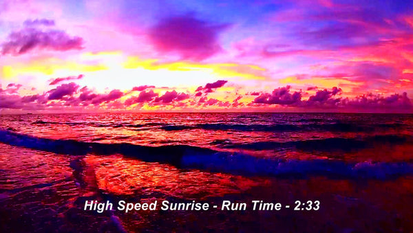 A Full Length Hollywood Beach Sunrise At 10X Speed