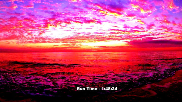 Another Super Colorful Vivid Sunrise Over The Atlantic At Beautiful Hollywood Beach, FL