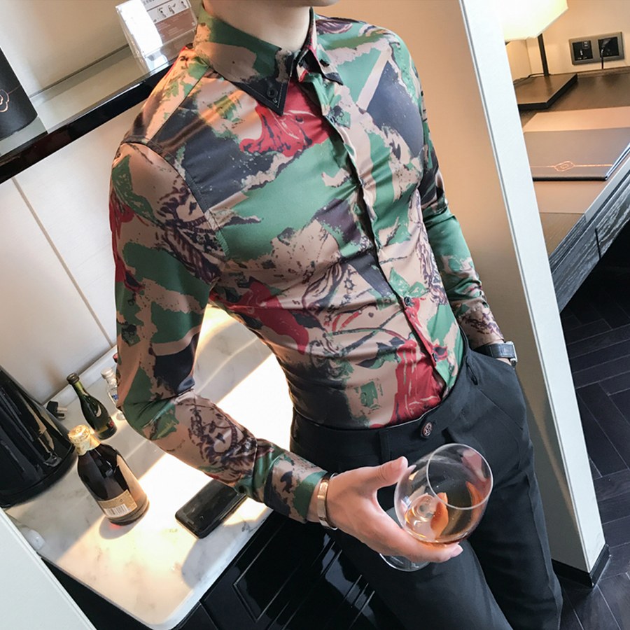 Camouflage Slim Fit Shirt