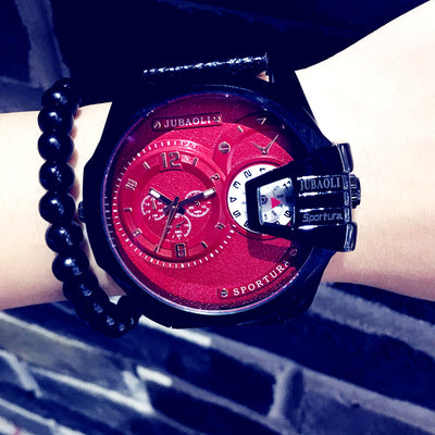Paolo Genuine Leather Watch