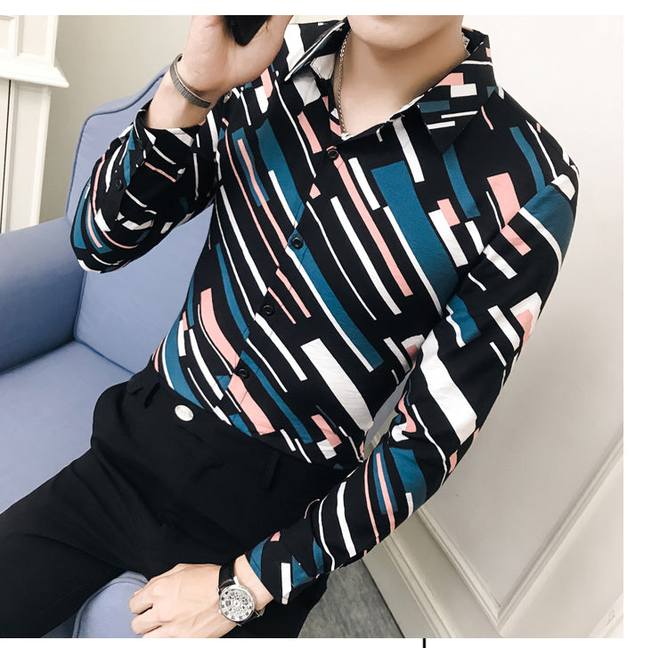 Trait Long sleeve Slim Shirt
