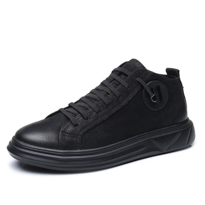 Superbe Leather Hi-Top Sneakers