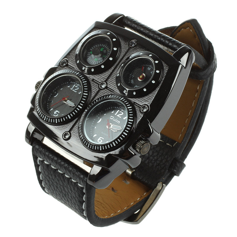 MULTI-function Watch (Time Zones, Compass, Thermometer)