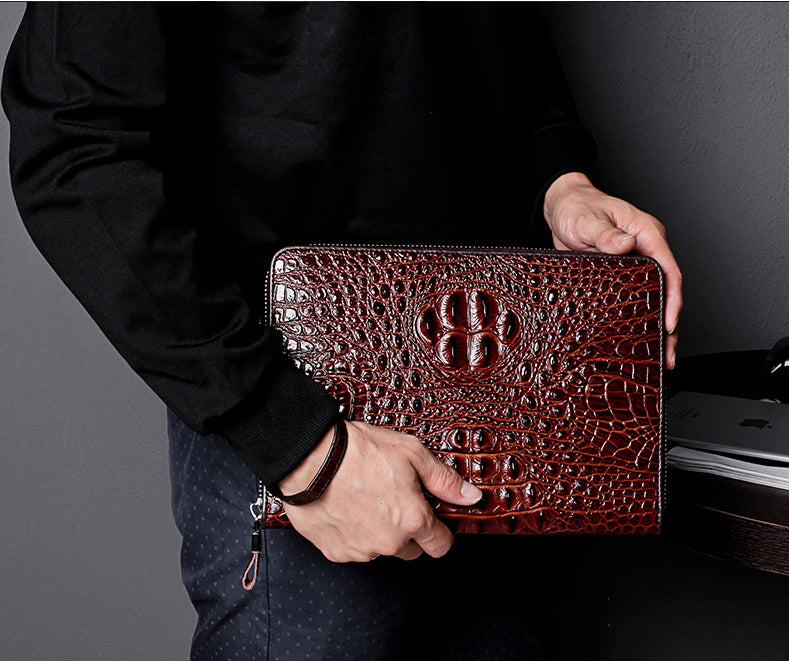 Croco Leather Bag