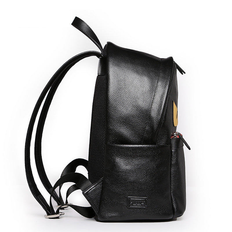 The Eyes Black Genuine Leather Backpack