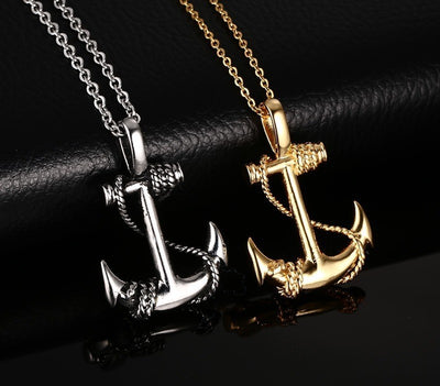 Vintage Punk Anchor Strong Men Necklaces