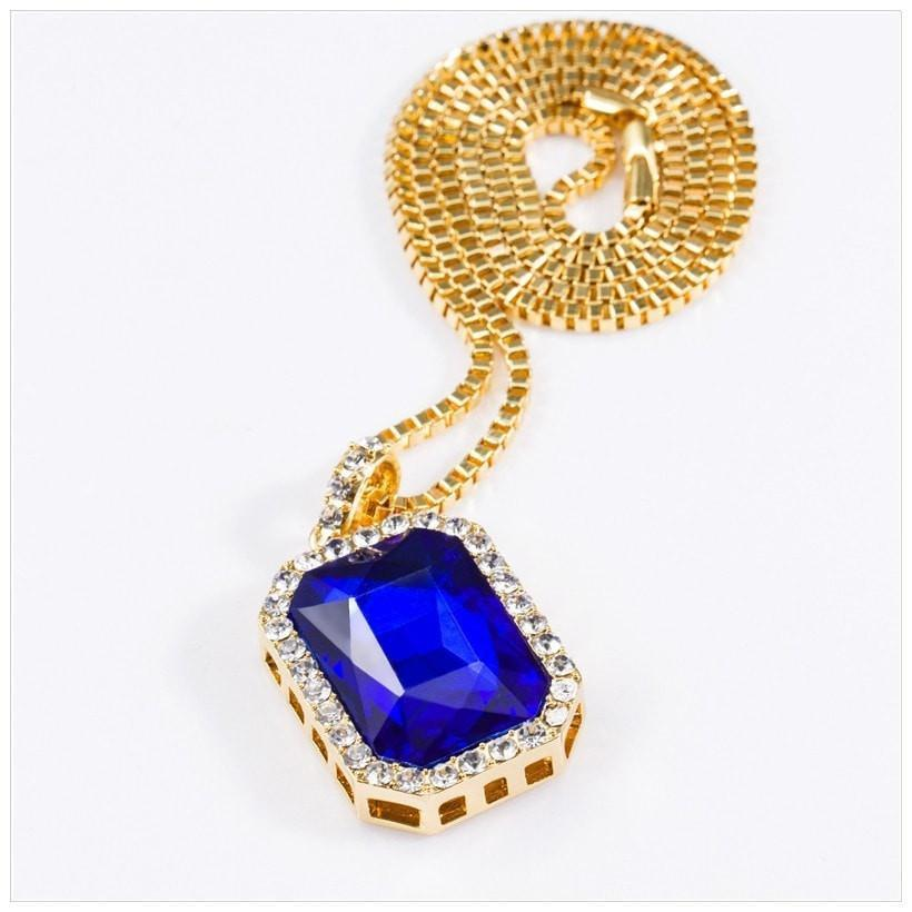 Ice Stone 18K Gold Necklace