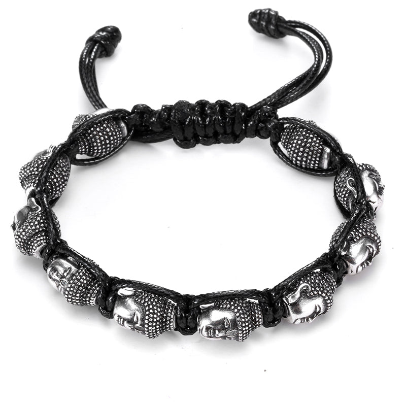 Buddha head Leather bracelet