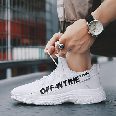Elgeer Leather Off-White Sneakers