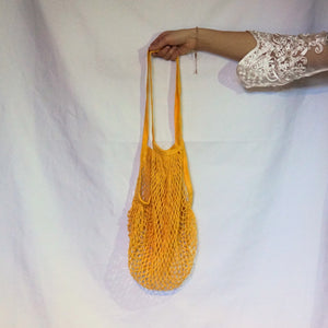 tote bag uk, mesh bag yellow with long handle