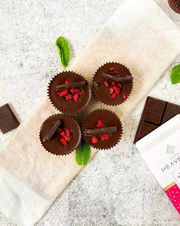 Dark chocolate & Raspberry Cups
