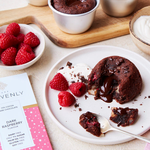 HEAVENLY RASPBERRY AND PEAR CHOCOLATE FONDANTS