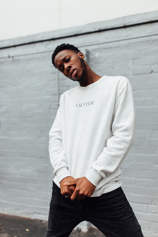 White/Black Unisex Sweater