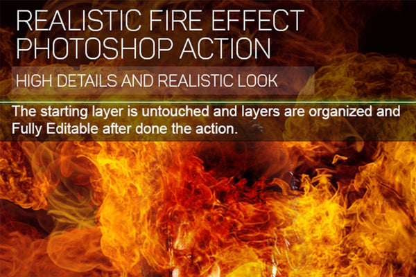 Realistic Fire Photoshop Action - buzzaart
