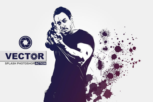 Vector Splash Photoshop Action - buzzaart