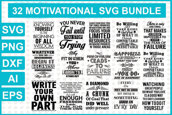 32 SVG Quotes and Sayings Bundle - buzzaart