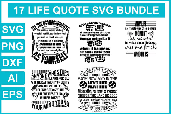 Life svg bundle - buzzaart