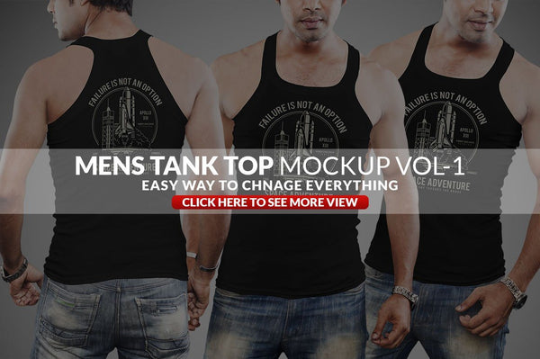 Mens Tank Top Mockup Vol-1 - buzzaart