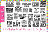 23 Motivational Quotes and Sayings SVG Bundle - buzzaart