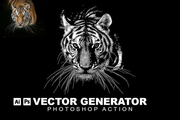 Vector Generator Photoshop Action - buzzaart