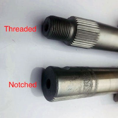 Saginaw 708 threaded vs notched sector shafts