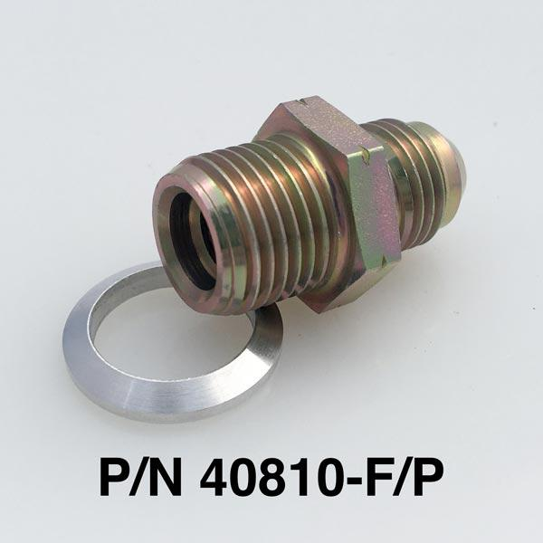 16mm to -6 Power Steering Fitting With Aluminum Seat For Ford Pumps, Racks & Pinions