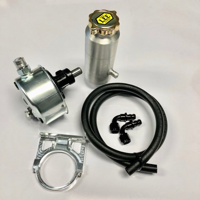 Saginaw P Power Steering Pump Found In 1960's To 1990's GM Cars With Round Can And Remote Reservoir
