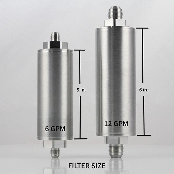 power steering filter size