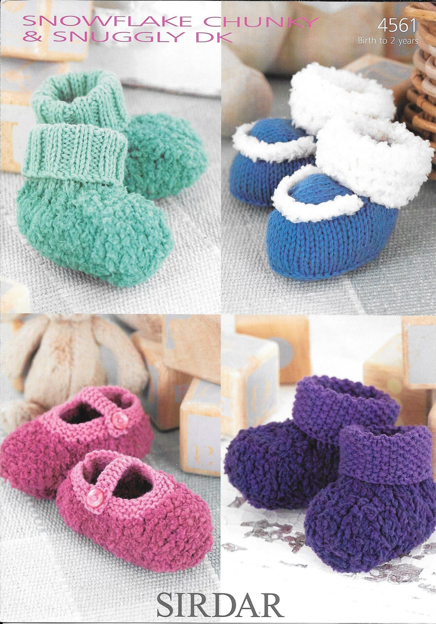 4561 Sirdar Baby Shoes and Bootees knitting pattern