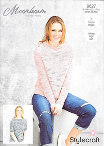 Stylecraft 9627 Ladies Jumpers in Moonbeam DK - Crochet