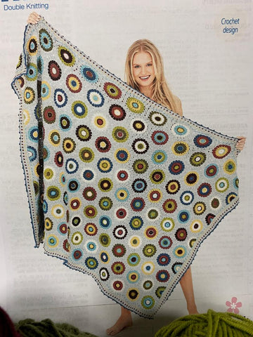 9613 Stylecraft dk Pressed Flowers Blanket crochet pattern