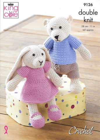 King Cole 9126 Crochet Bear and Rabbit