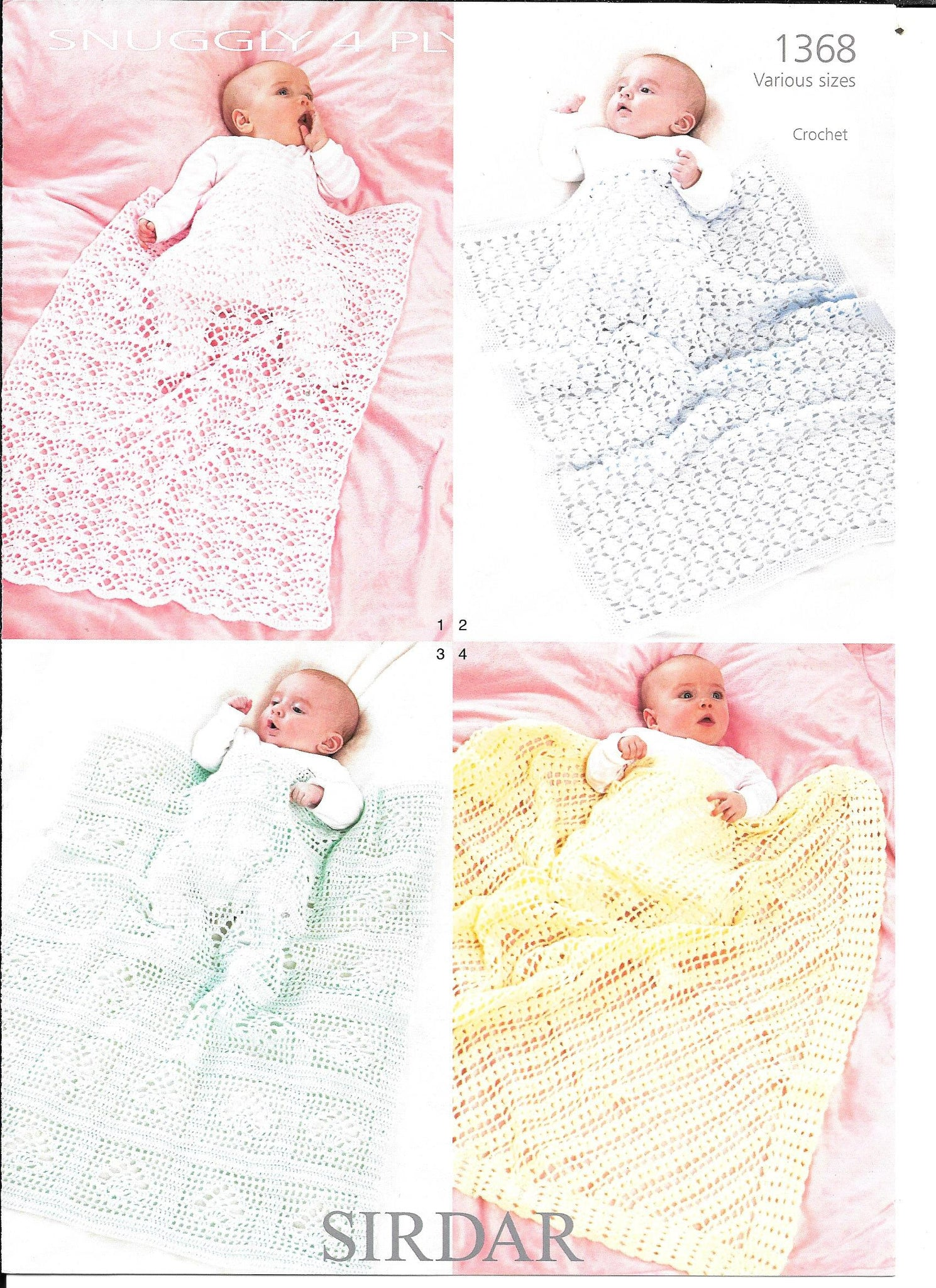 1368 Sirdar Blankets and Shawls in Sirdar Snuggly 4ply - 1368 crochet pattern