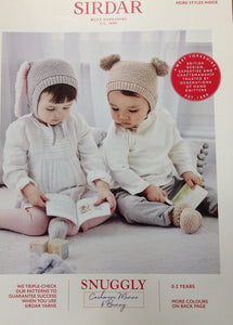 5303 Sirdar Snuggly DK Pattern for Baby Hats knitting pattern