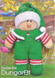 279 KBP279 DungarElf toy in dk knitting pattern