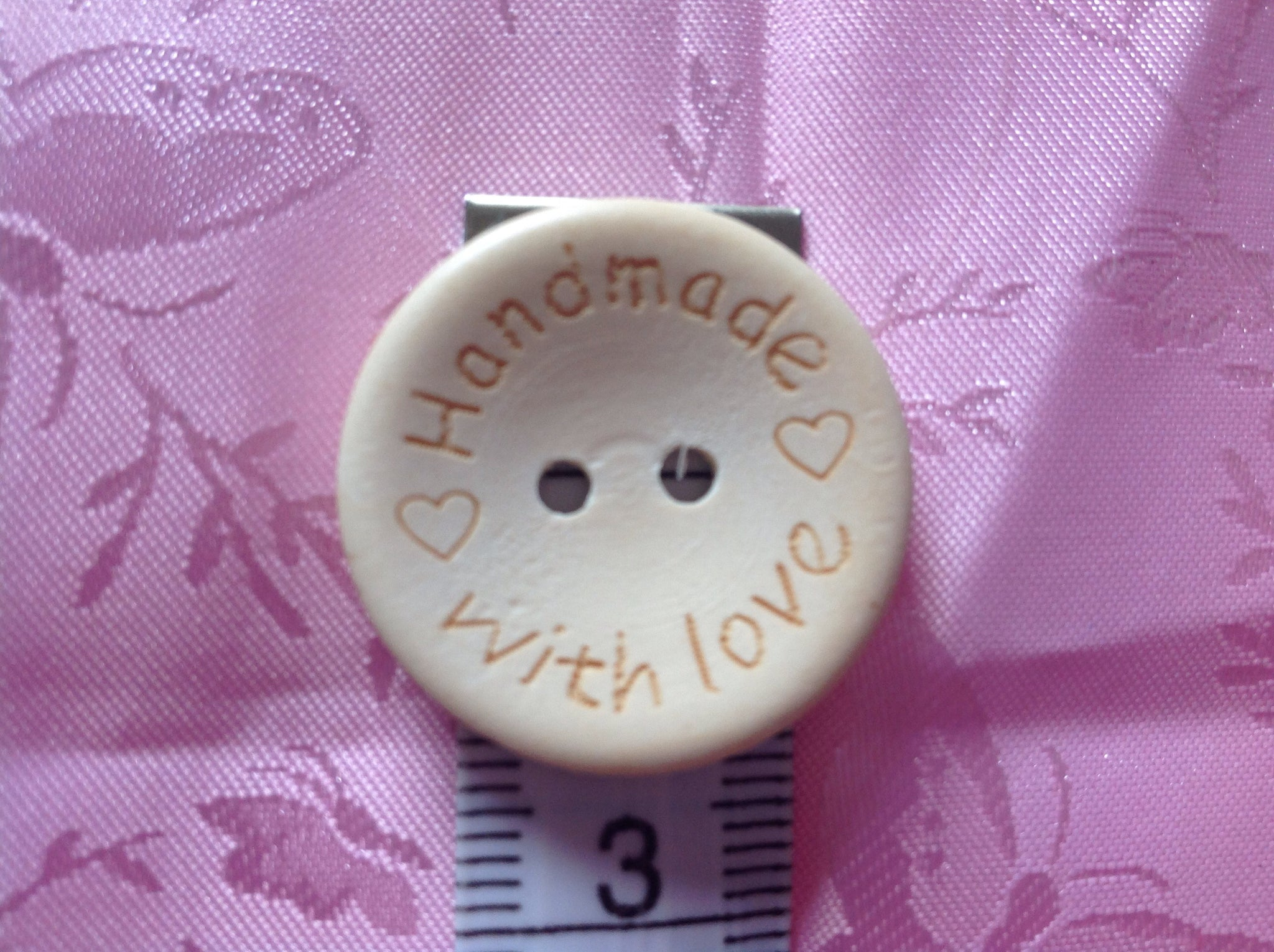 Handmade with Love Buttons