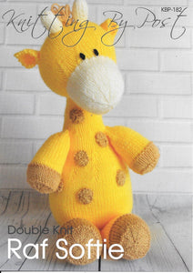 182 KBP182 Raf softie toy in dk knitting pattern
