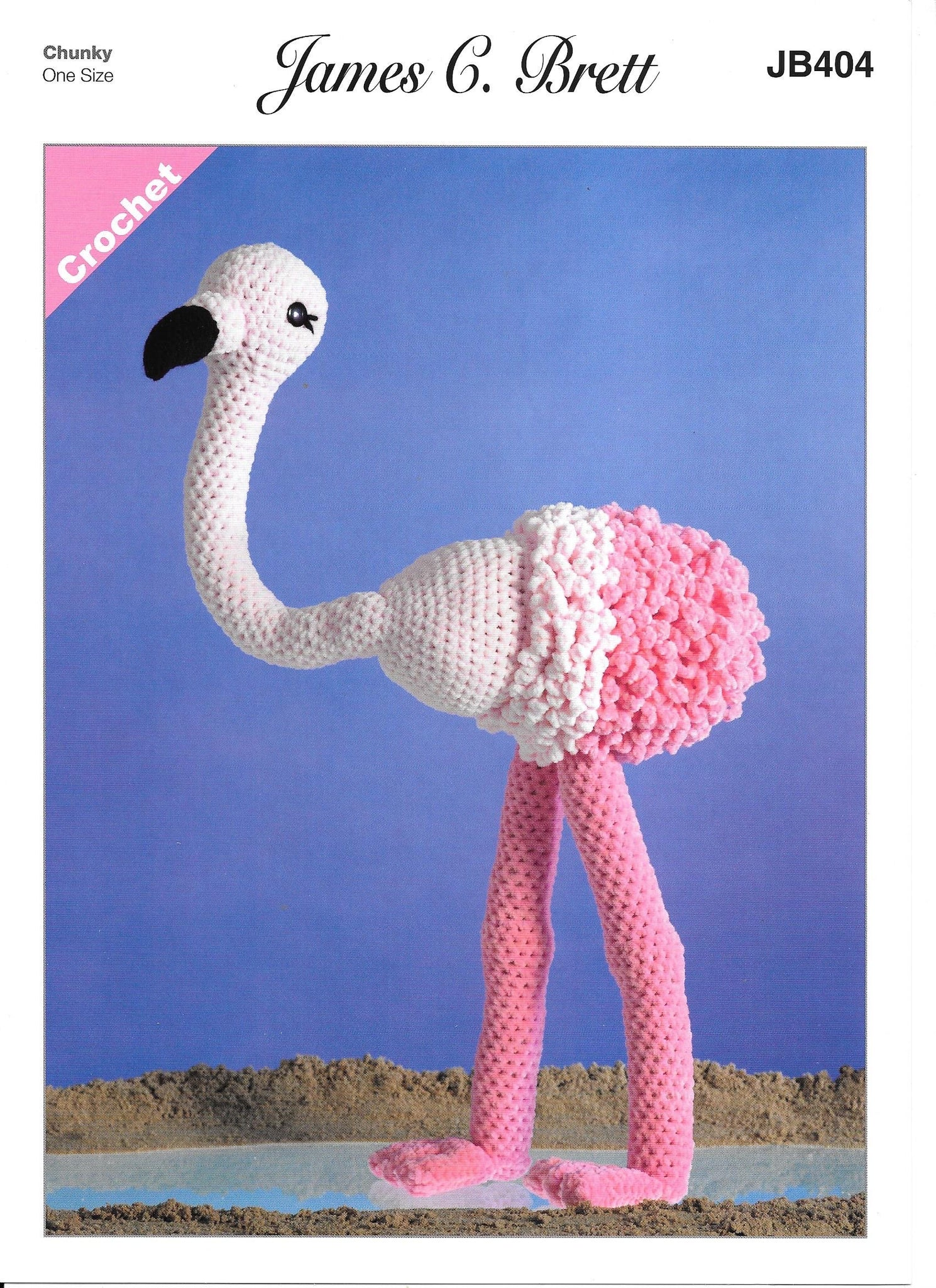 404 JB404 James C Brett Flutterby toy flamingo crochet pattern