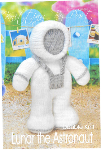 283 Lunar the Astronaut toy in dk knitting pattern