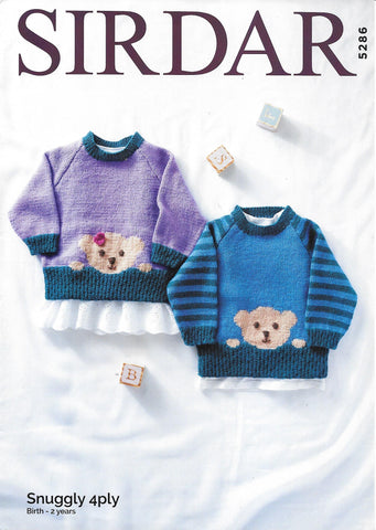 5286 Sirdar Snuggly 4ply baby child sweaters knitting pattern