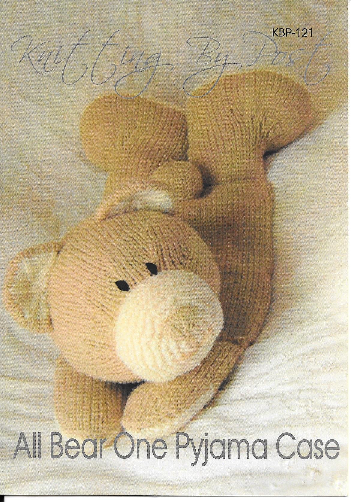 121 KBP121 All Bear One Pyjama Case in Chunky knitting pattern