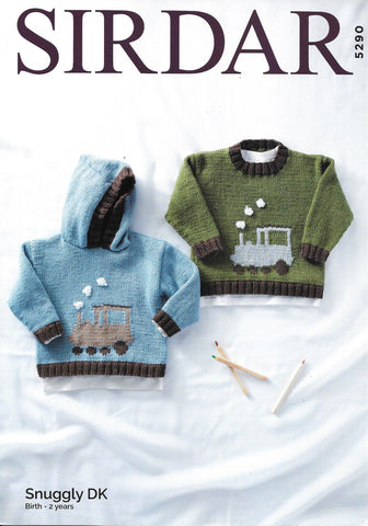 5290 Sirdar Snuggly dk baby child sweaters knitting pattern