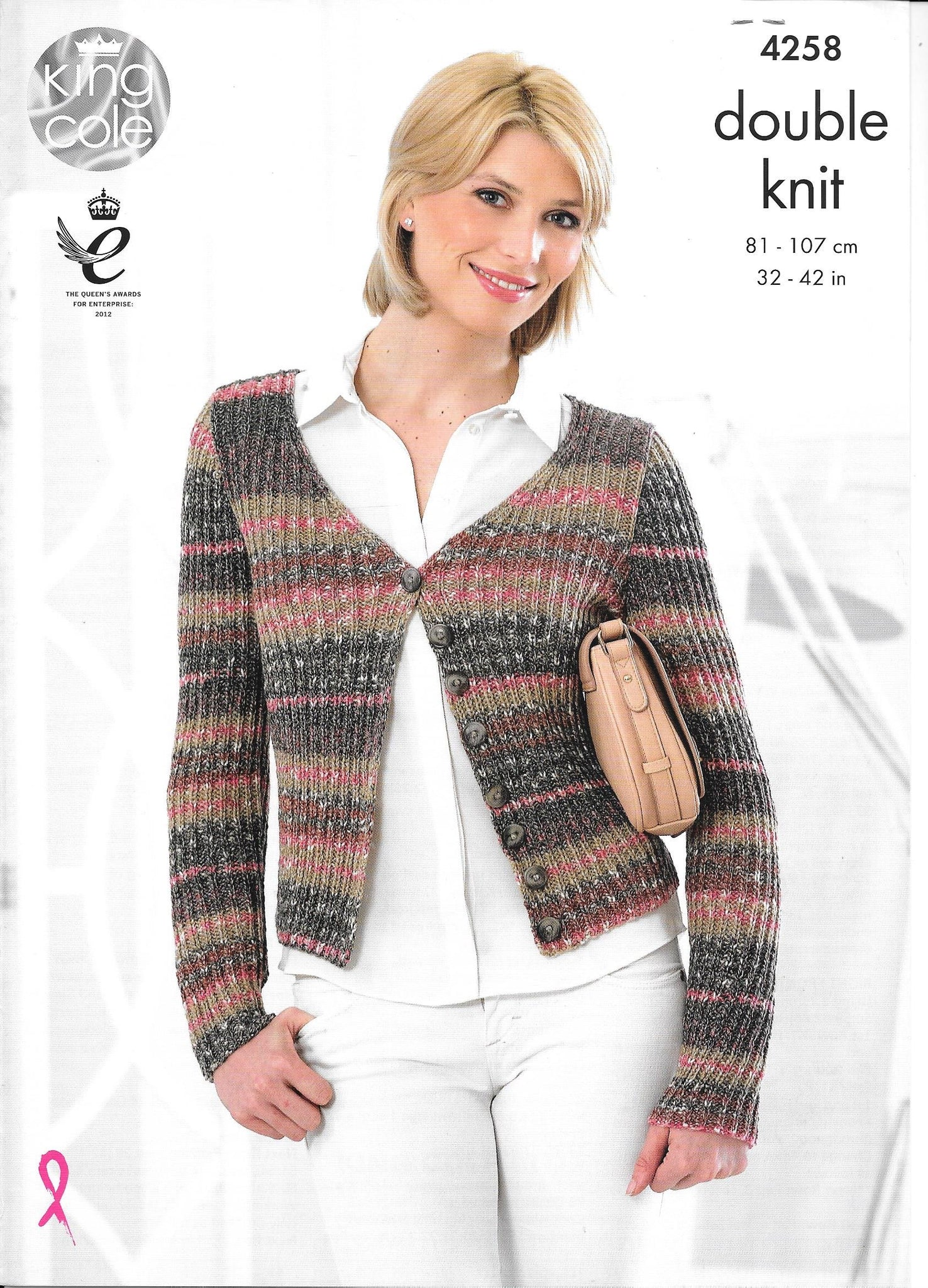 4258 King Cole Drifter double knit ladies cardigan and sweater knitting pattern