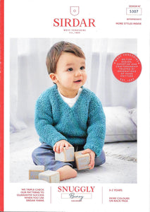 5307 Sirdar Snuggly Bunny fur effect baby child sweaters knitting pattern
