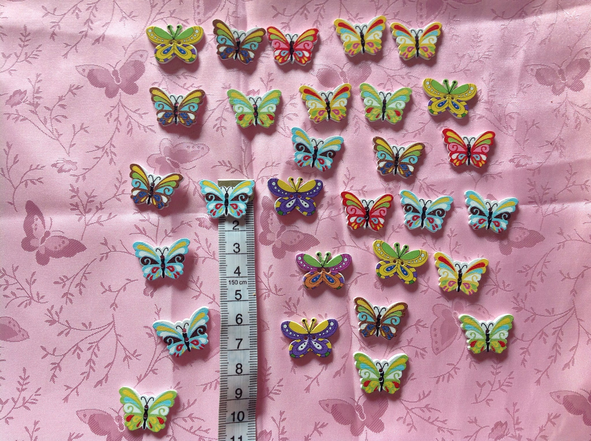 Butterfly shaped Buttons
